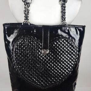 Betsey Johnson Black Patent Leather Handbag